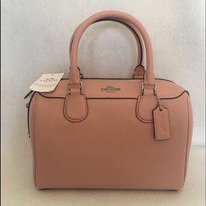 Coach mini Bennett satchel bag petal